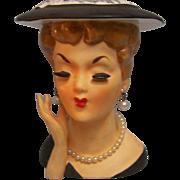 Head Vase Japan Hand