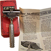 Gem Safety Razor Original Box instructions 1927