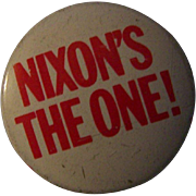 Nixon Political Presidential Campaign Button Pin 1968