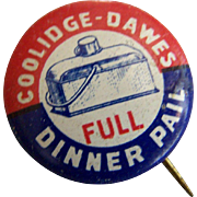 Coolidge Dawes Presidential Political Campaign Button Pin 1924