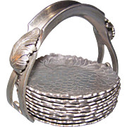 Hand Wrought Aluminum Silverlook 501 Coasters & Holder