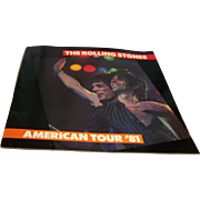 Rolling Stones Tour Book American Tour 1981