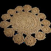"Crochet Doily Creamy Ecru 7.5"""