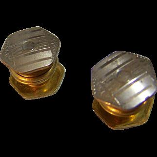 Baer & Wilde Kum-A-Part Snap Cufflinks silvertone Made in USA
