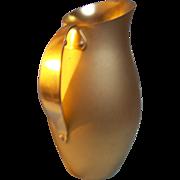 Mirro Aluminum water pitcher gold tone