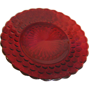 Bubble Dinner Plate Ruby Anchor Hocking