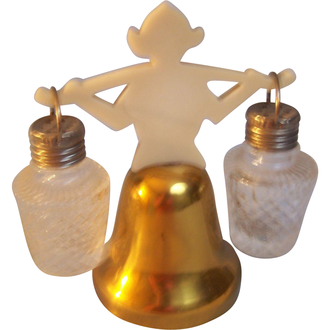 Salt and Pepper  Dutch Bell with hanging shakers