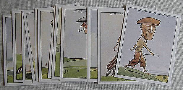 1989 Reprinted Set Churchmans Cigarette Cards Golf 1931