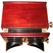 Early 20th Century Polished Wood Box Stereoscope
