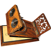 Late 19th Century Polished Mahogany Stereoscopic Viewer