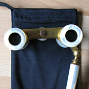 Early 20th century Brass and Mother of Pearl Opera Glasses