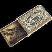 RARE Antique German Mourning Pins. Original Box