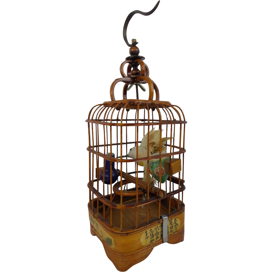 "Antique Chinese Ornate Bird Cage  ""SMALL & WONDERFUL"""