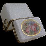 "Antique French Case Glass Casket  ""DEVINE"""