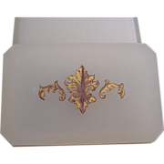 Magnificent Antique White French Opaline Casket