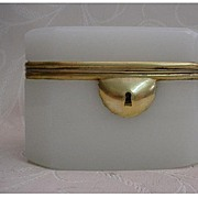 Grandest Antique French Opaline Hinged Box
