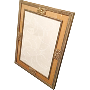 "12"" Wonderful Estate Vintage Brass Picture Frame. ~ A Table Top Frame with Heavy Easel Back  ~  Ready for Your 9 ½""  x  7"" Picture"