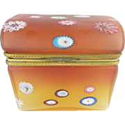 "Vintage Murano Millefiori Dome Top Hinged Box ""RARE"""