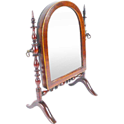 """Antique Miniature Doll Dressing Mirror """"Adjustable."""" Outstanding &  RARE"""