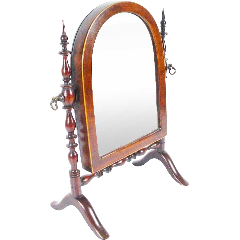 "Antique Miniature Doll Dressing Mirror ""Adjustable."" Outstanding &  RARE"