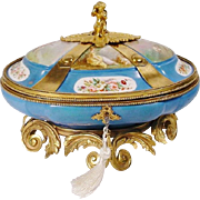 "Glorious  12"" Antique Sevres Style Porcelain Casket ""MASTERPIECE"""
