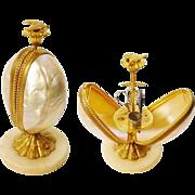 "Palais Royal Mother of Pearl Etui Casket Hinged Box "" STUNNING LUMINOUS"""