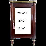 "Wonderful Antique Miniature Vitrine Curio Cabinet  ""BRASS GALLERY"""