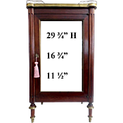 "Wonderful Antique Miniature Vitrine Curio Cabinet  ""BRASS GALLERY"""