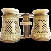 "Antique French Pierced Bone Opera Glasses. ""MAGNIFICENT """