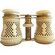"Antique French Pierced Bone Opera Glasses. ""MAGNIFICENT """