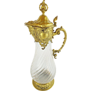 "Antique Crystal Decanter Wine Claret Jug ""Ornate Rococo Style """