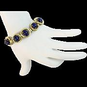 """14K  Lapis Lazuli  Bracelet """"B E A U T I F U L"""""""