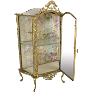 "Antique French MIniature Vitrine Curio "" Perfect for a Small Collection of Tiny Treasures"""