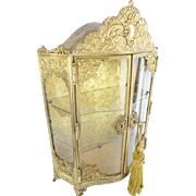 "Antique French Gilt Miniature Vitrine""CHARMING & SPECIAL"""