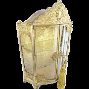 "Antique French Gilt Miniature Vitrine""CHARMING & SPECIAL"""