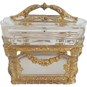 """Antique French Empire Style Casket Box """"THE GRANDEST"""""""