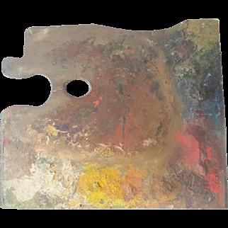 Wonderful Large Antique Artist Palette ~ Artist Frank Hutchens ~
