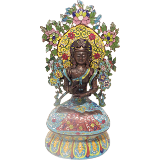 """Grandest 22"""" 19C Cloistral  Seated Buddha ~ Outstanding Size &  Magnificent Colors """" A  Chinese  RARITY from My Treasure Vault"""""""