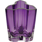 Exquisite Estate Vintage Purple Kosta Boda Vase ~ FABULOUS Shape & Color