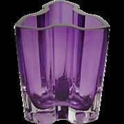 Exquisite Estate Vintage Purple Kosta Boda Vase ~ FABULOUS Shape & Color