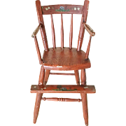 Antique Painted Youth/Doll Chair  ~ Great Paint Loss, Chips, Nips ~ Remains so Very Charming &  Sweet