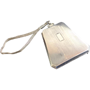 Stunning Watrous Silver Co. Purse/Compact with Chain ~ Stamped STERLING ~  Interior with Mirror, Note Sheet, a Coin Holder &  Bill Holder