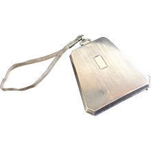 Stunning Watrous Silver Co. Purse/Compact with Chain ~ Stamped STERLING ~  Interior with Mirror, Note Sheet, a Coin Holder &  Bill Holder - Red Tag Sale Item