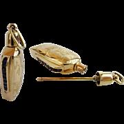 "14Karat  Sapphire Perfume ~ Fabulous Engraving & Channel Set Sapphires ~  "" GLORIOUS"""