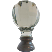 Antique French Crystal  Newel Post Finial  ~ Boule Escalier ~ Rare & Hard to Find These Days.