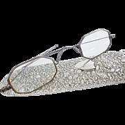 EXQUISITE Antique Silver Chatelaine Glasses & Magnificent Ornate Case