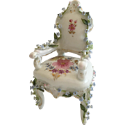 Charming Meissen Elfinware  Armchair  ~Wonderful Little Miniature Chair~