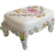 Miniature  Rococo Style Porcelain Stool in the Manner of Meissen Elfinware