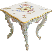 Miniature  Rococo Style Porcelain Square Table in the Manner of Meissen Elfinware  ~  CIRCA: 1st Quarter 20th   ~ TABLE 1A