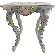 Miniature Rococo Style Porcelain Square Table in the Manner of Meissen Elfinware ~ CIRCA: 1st Quarter 20th ~ TABLE 1B
